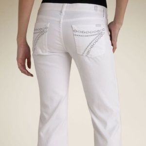 7 For All Mankind Dojo with Crystal Chain Pocket